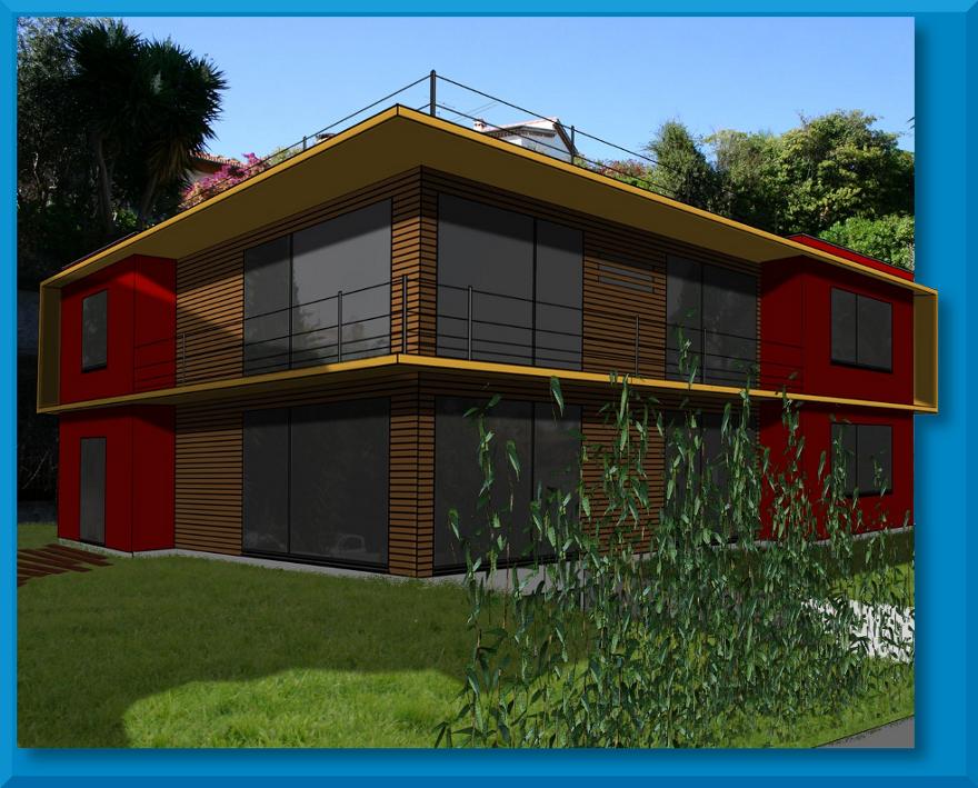 projet 2 architecture archi cascade. Black Bedroom Furniture Sets. Home Design Ideas